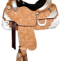 Saddles Tack Horse Supplies - ChickSaddlery.com Showman Silver Show Saddle With Full Floral Tool
