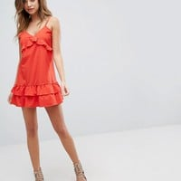 PrettyLittleThing Ruffle Strappy Dress at asos.com