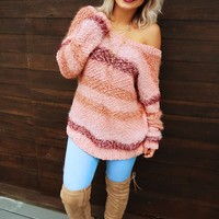 Giving Me The Feels Sweater: Pink/Multi