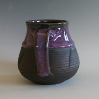 Purple Pottery Mug handmade ceramic cup tea cup coffee cup handthrown ceramic stoneware pottery mug unique coffee mug ceramics and pottery