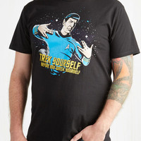 Quirky Mid-length Short Sleeves Vulcan-Do Attitude Men's Tee