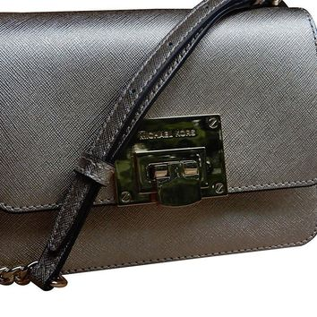 Michael Kors Tina Small Leather Clutch Crossbody Shoulder Bag