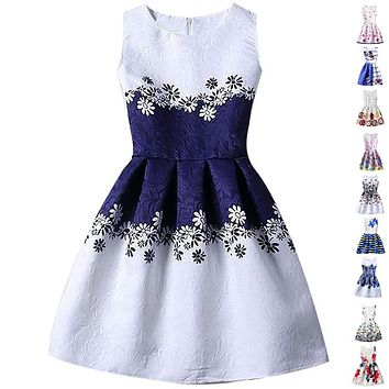 Summer Dresses For Girl Butterfly Flower Sleeveless Formal Girl Dresses Teenagers Party Dress age 9  11 12