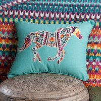 Running Horse Toss Pillow - Bedding Coordinates - Bedding