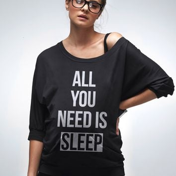 """All You Need Is Sleep"" Maternity Top"