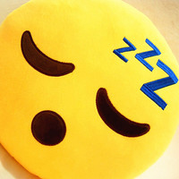 Emoji Plush Pillow Sleeping Face