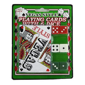 Casino Style Playing Cards with Dice ( Case of 96 )