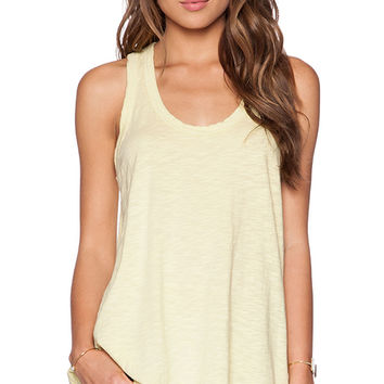 Wilt Slub Jersey Hi-Lo Tank in Yellow