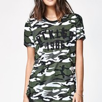 Young & Reckless Simple Blvd Scoop Neck T-Shirt - Womens Tee - Camo