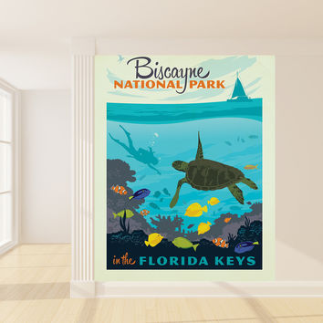 Anderson Design Group's Biscayne National Park Mural wall decal