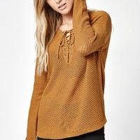 LA Hearts Lace-Up Sweater at PacSun.com