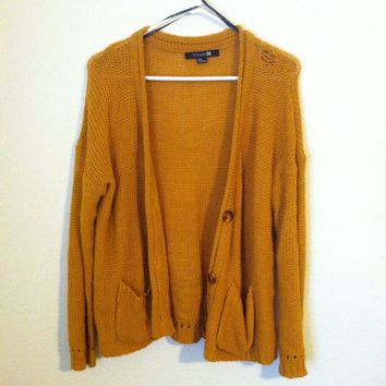 Oversized mustard yellow cardigan