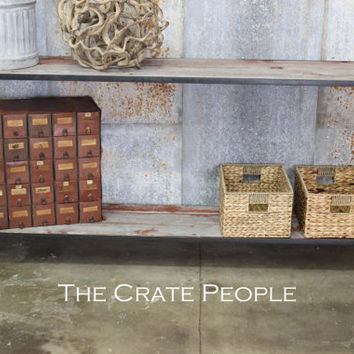 Long Entry Table or Console table made with Reclaimed red & Gray Barn Wood
