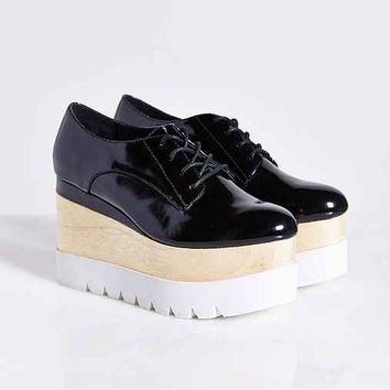 Jeffrey Campbell Berliner Oxford- Black & White