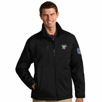 Antigua Pittsburgh Penguins 2014 Stadium Series Traverse Soft Shell Full Zip Jacket - Black