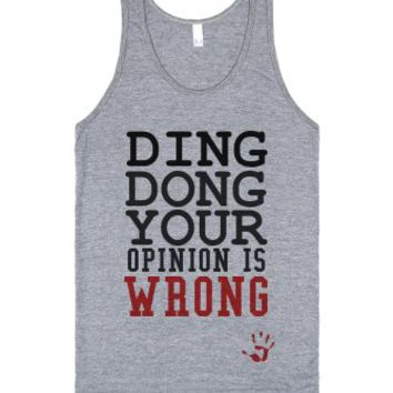 Ding Dong your opinion is wrong tank top tee t shirt 2-Tank