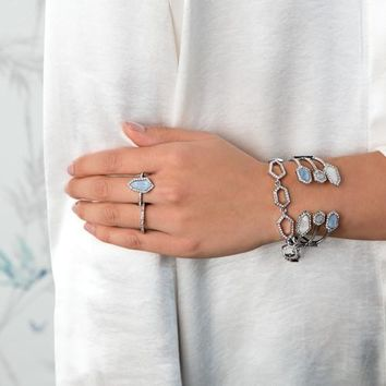 Modern Mosaic Stackable Rings by Chloe + Isabel