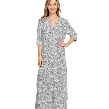 DKNY Group Long Sleeve Shirtdress