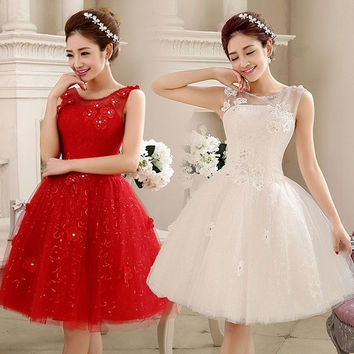 Women's Fashion Newest Wedding dress Bridesmaid dress evening dress evening wear wedding wear slim dress sleeveless dress bubble skirt = 1946879940