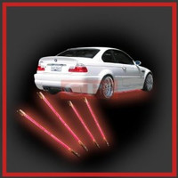 RED LED UNDER CAR UNDERBODY LIGHTS 4PCS UNIVERSAL PERFORMANCE