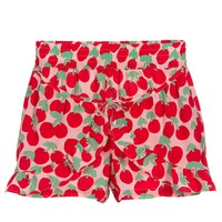 Girls Red and Pink Cherry Shorts