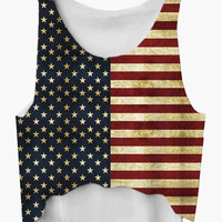 American Flag Pattern Tank Top