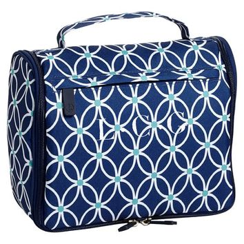 Jet-Set Navy Petal Chain Ultimate Toiletry Bag