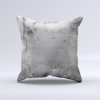 Grunge Gray Surface Ink-Fuzed Decorative Throw Pillow