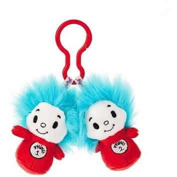 Dr. Seuss™ Thing 1 and Thing 2 itty bittys® Clippys Stuffed Animals