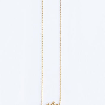 Avery Wifey Dainty Gold Necklace