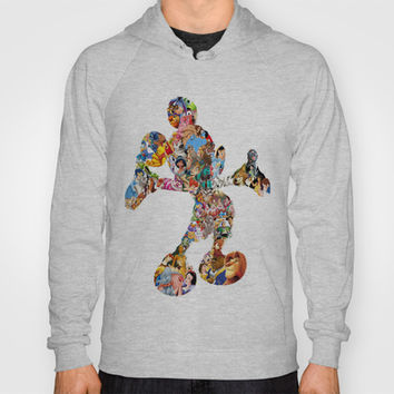 Mickey Mouse Silhouette Hoody by Christa Morgan ☽