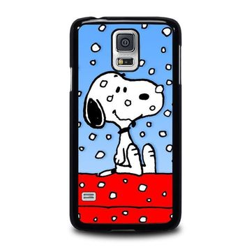 snoopy dog christmas samsung galaxy s5 case cover  number 1