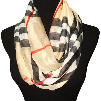 Chic British Plaid Scarves -2 Styles-Circle or Long Scarf