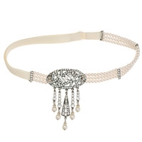 1920s Style Pearl and Crystal Hair Band  | Bridal Hair | Ben-Amun