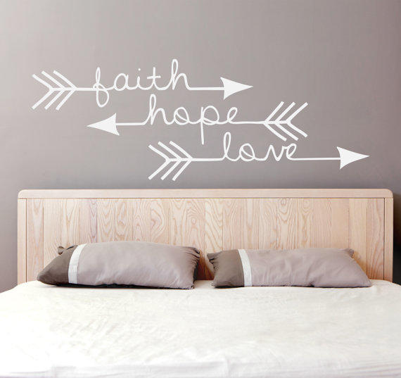 Faith Hope Love Arrow Vinyl Decal From Levinyl On Etsy
