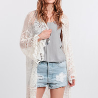 Big Wave Crochet Kimono By Somedays Lovin