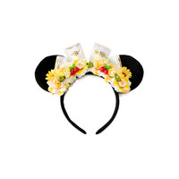 Pineapple Whip Mouse Ears Headband, Flower Mouse Ears, Minnie Ears Headband, Mickey Ears Headband, Theme Park Treats, Mouse Costume