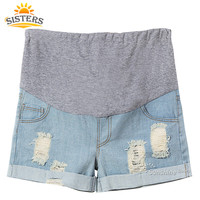 Maternity Jeans Short  Pants  Summer For Pregnant Women Plus Size Clothing Pregnancy Clothes Shorts Belly  Skinny Jean Maternity