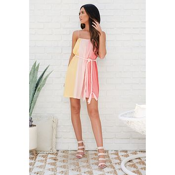 Sunrise To Sunset Dress (Multi Stripe)