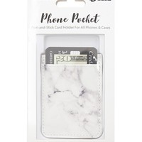 iDecoz Marble Peel & Stick Phone Pocket