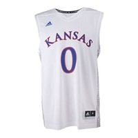 KU Bookstore - Kansas Iced Out Replica #0 Jersey 2015-16