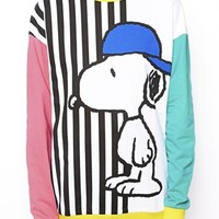 ASOS Sweatshirt with Skater Snoopy Stripes - Multi