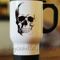Anatomical Skull,Anatomy, Human Skull, Travel Mug, Thermal Cup