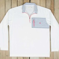 Southern Marsh FieldTec Dune Pullover in White OFSP-WHT
