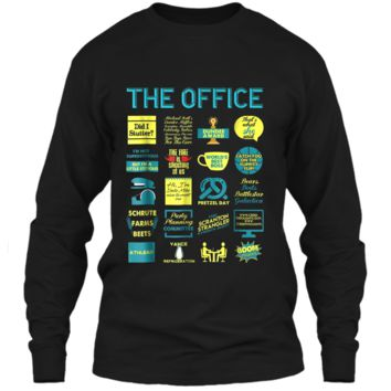 The Office Quote Mash-Up Funny  - Official Tee LS Ultra Cotton Tshirt