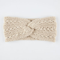 Twist Knit Headwrap Ivory One Size For Women 26394116001