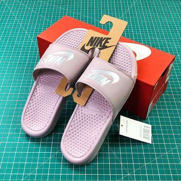 Nike Benassi Duo Ultra Slid Pink Sandals - Sale 3ba1a597cb