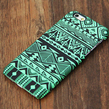 Green And Black Tribal Pattern iPhone 6 Plus 6 5S 5C 5 4 Protective Case #730 - Acyc