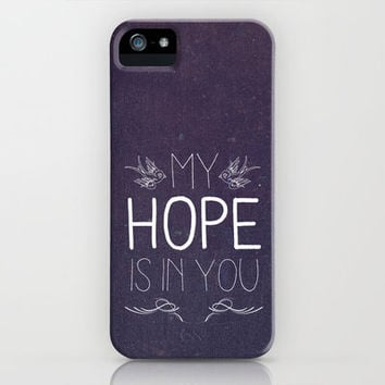 Psalm 25:5 Hope  iPhone Case by Pocket Fuel | Society6