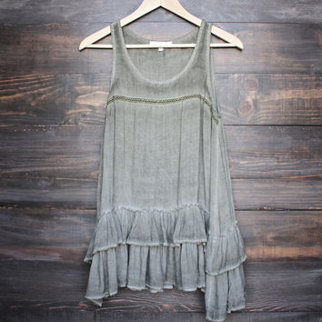 faded wash rayon tank (more colors)